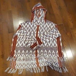 Womens sweater poncho